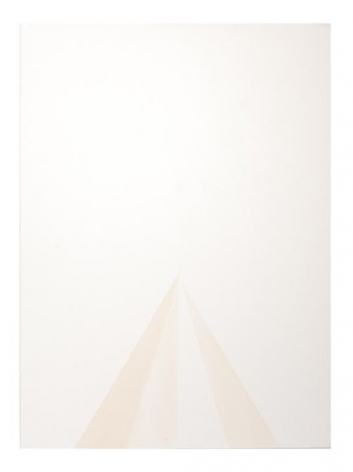 Mariano Dal Verme, Untitled from the series Fade In: Solids, 2013. Lemon juice on paper, 9 3/4 in. x 13 1/2 in.