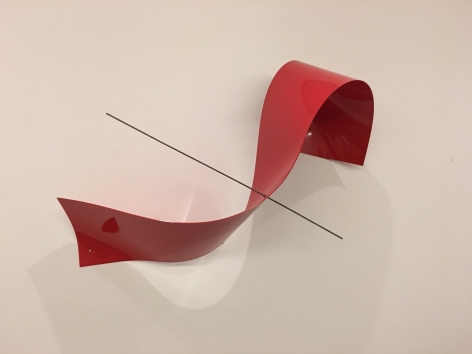 Iole Freitas, Untitled, 2009. Stainless steel, polycarbonate and industrial paint, 39 3/8 x 52 3/4 x 20 7/8 in. (100 x 134 x 53 cm.)