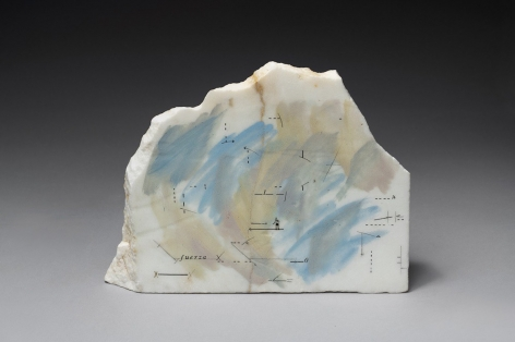 Untitled, 1980,Drawing and paint on marble,7 7/16 x 13 3/4 x 1 15/16 in. (19 x 35 x 5 cm.)