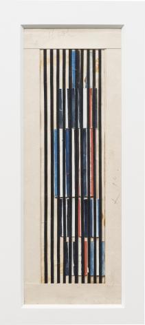 Alejandro Otero, Boceto para Coloritmo 61, 1971. Paper cut and gouache, 9 7/16 x 3 1/2 in. (24 x 9 cm.)