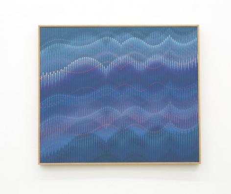 Abraham Palatnik, W-957, 2016. Acrylic on wood, 27 1/2 x 31 1/2 in. / 70 x 80 cm.