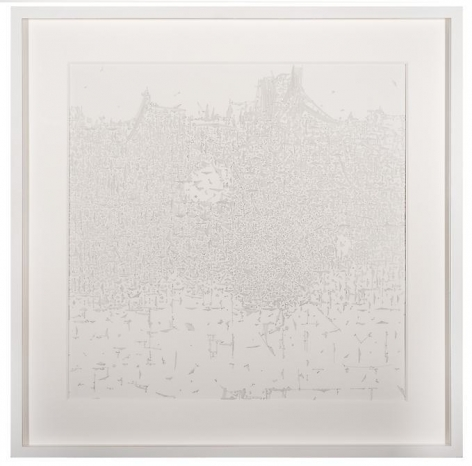 Marco Maggi, Landmark, 2013. Pencil on Yupo paper, 24 in. x 24 in.