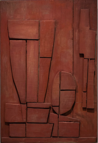 Augusto Torres, Red Relief, 1960. Painted wood, 27 x 18 1/2 in. / 37.7 x 25.4 cm.