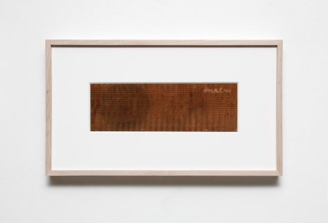 Gabriel de la Mora, B-193, 2015. Fabric removed from radio speakers,11 7/16 x 20 x 1 13/16 in. / 29 x 50.7 x 4.5 cm.