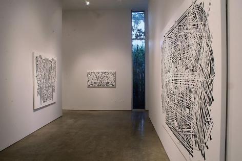 Pablo Siquier, Sicardi Gallery exhibition, installation view, 2008.
