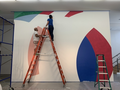 Graciela Hasper,Untitled, mural at Sicardi   Ayers   Bacino in progress, 2019.