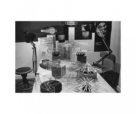 Selection of Alejandro Otero's models for large-scale kinetic sculptures. Photo courtesy of the Otero Pardo Foundation Archives.