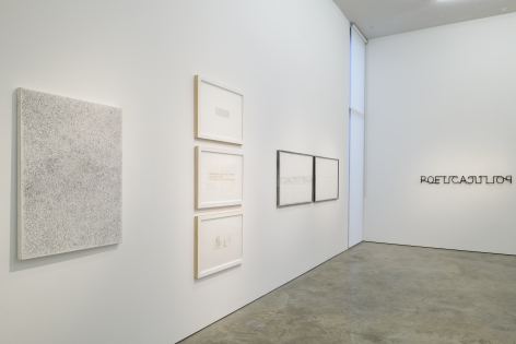 Installation view of Subtext at Sicardi | Ayers | Bacino, 2021.