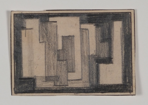 Antonio Asis, Untitled, 1955, Graphite on paper, 1 5/8 x 2 1/4 in. (4.1 x 5.8 cm.)