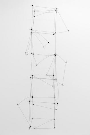 Magdalena Fernández, 10ee016, 2016. Steel, rubber, 144 x 53 x 52in.