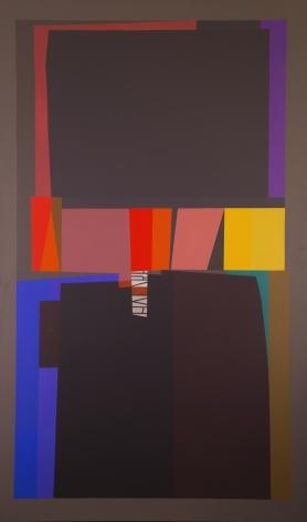 Mercedes Pardo Ponte, La Vigilia, 1990. Acrylic on canvas, 74 3/4 x 44 7/8 in. (190 x 114 cm.)
