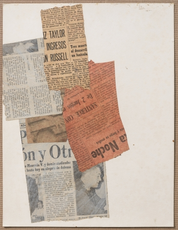 Alejandro Otero, Untitled, 1964. Collage on cardboard, 12 15/16 x 10 in.