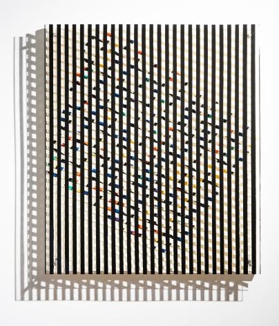 Alejandro Otero, Coloritmo en movimiento 6 [Colorhythm in Motion 6], 1957. Duco on wood and plexiglass, 45 21/32 x 40 15/16 x 4 5/16 in.