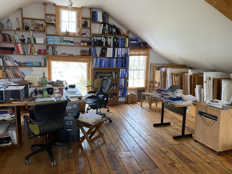 Liliana Porter Studio in Rhinebeck, 2020.