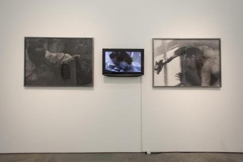 Miguel Ángel Rojas, Mirando la flor (Edition of 3 + 2AP), 1997-2007. Video and 2 silver gelatin prints, 5:22 min., 31 7/8 x 44 in. (each)