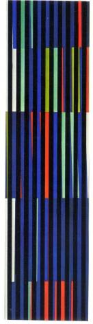 Alejandro Otero, Coloritmo 48A [Colorhythm 48A], 1971. Industrial enamel on wood, 70 13/16 x 18 7/8 in. (180 x 48 cm.)