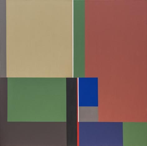 Mercedes Pardo, Iridiscencia, 1980. Acrylic on canvas, 47 3/16 x 47 3/16 in.