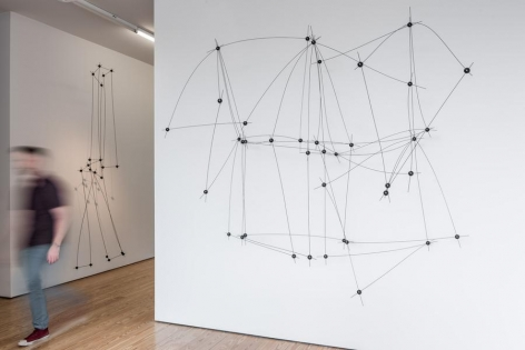 Installation view, Flexible Structures, 11ee016 and 12ee016, 2016