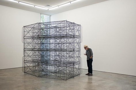 Pablo Siquier, Structure, Sicardi Gallery installation view, 2013.