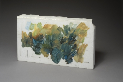 Marie Orensanz. Untitled, 1987-1988. Drawing and relief on marble, 13 3/8 x 21 1/4 x 3 15/16 in. (34 x 54 x 10 cm.)