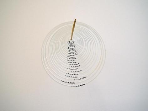 Miguel Angel Ríos, Untitled #7 (Meta Series), 2010.  Ink on styrene, wood. 12 1/4 in. x 31 in.