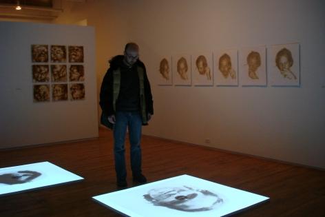 Solo exhibitionImprints for a Fleeting Memorialfor Oscar Muñoz, Prefix Institute of Contemporary Art,Toronto, Canada, 2008.