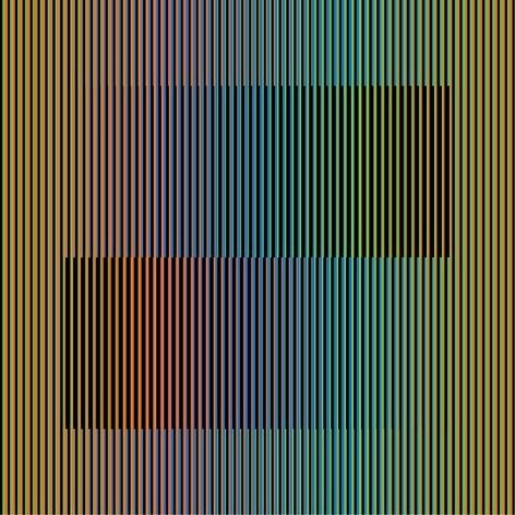 """Inducción Cromática A, 2012, Chromography on aluminum, Edition 1/3, 47"""" x 47"""" / 120 x 120 cm"""
