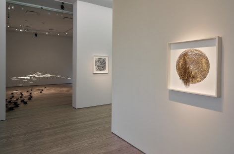 Installation view of Gustavo Diaz's 2020exhibitionIncompleteness: The Poetics of the Intangibleat Sicardi | Ayers | Bacino.