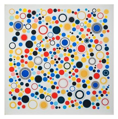 Antonio Asis, Geometría Libre, 1962. Gouache on paper (Cat. No. 2330), 30 5/16 in. x 29 7/8 in.