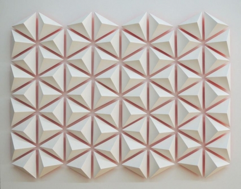 Luis Tomasello, Atmosphere chromoplastique, No. 1014, 2012. Acrylic on wood, 26 3/8 x 33 1/2 x 4 in. / 67 x 85 x 10 cm.