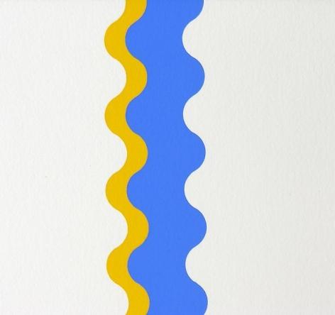 Sérvulo Esmeraldo, Variations sur une courbe, 1972-1973. Serigraph, ed. 1/50, 12 in. x 12 in.