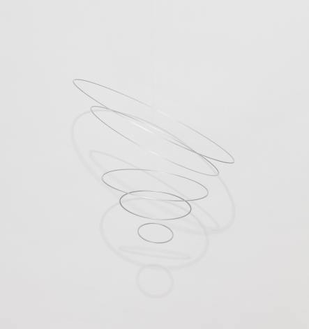 Elias Crespin, Circuconcéntricos Aluminum-50 1/3 [Edition of 3], 2018. Aluminum, nylon, motors and electronic interface, Diameter = 19 11/16 in. (50 cm.)