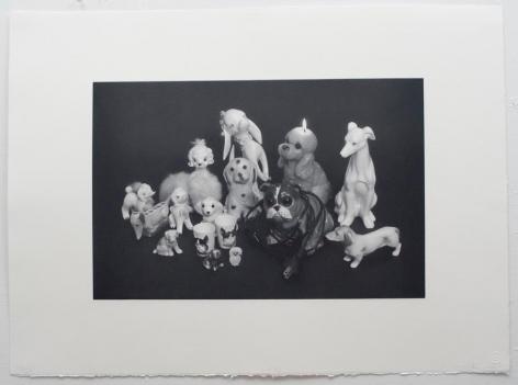 Liliana Porter, Dogs, 2012. Photo polymer gravure, 22 in. x 30 in.