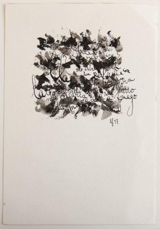 León Ferrari, Sin Título, 1997. Ink and watercolor on paper, 8 21/32 x 5 29/32 in. (22 x 15 cm.)