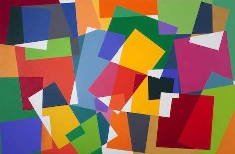 "Graciela Hasper, Untitled, 2011, Acrylic on canvas, 74.8"" x 114"""
