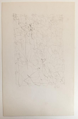 León Ferrari, Untitled, 1962. Graphite on paper, 9 1/4 x 5 15/16 in. / 23.5 x 15 cm.