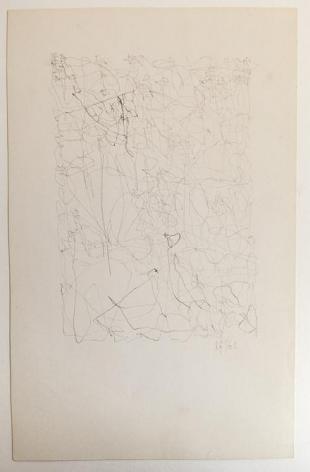 León Ferrari, Untitled, 1962. Graphite on paper, 9 1/4 x 5 15/16 in. / 23.5 x 15 cm.
