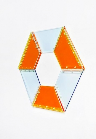 Marta Chilindron, 9 Trapezoids, 2014. Acrylic, 30 in. overall.