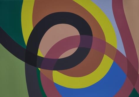 Graciela Hasper, Untitled, 2019. Acrylic on canvas, 36 9/16 x 53 1/8 in. (95 x 135 cm.)