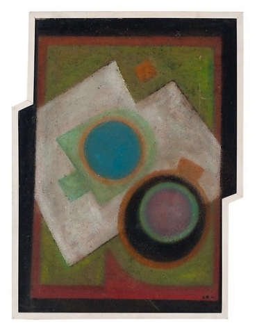 Carmelo Arden Quin, Madi IIA, 1945, Oil on cardboard, 18 in. x 13 in.