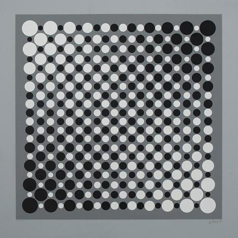 Julio LeParc, Untitled, c. 1960s. Serigraph, ed. 85/125, 19 1/4 in. x 19 1/4 in.