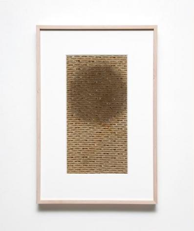 Gabriel de la Mora, B 201, 2015. Fabric removed from radio speakers, 22 5/16 in. x 15 1/16 in. x 1 13/16 in.