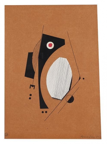 Carmelo Arden Quin, Collage s/t, 1962, Collage on paper, 12 in. x 9 in.