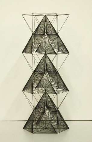 Mariano Dal Verme, Tower, 2014. Graphite, 11.8 in. x 4.7 in. x 4.7 in.