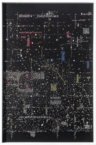 Marco Maggi, Black Letter, 2017. Paper cuts on paper, 36 x 24 in.  / 91.4 x 61 cm.