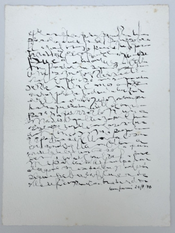 León Ferrari, Sin Título, 1978. Ink on paper, 8 1/4 x 6 9/32 in. (21 x 16 cm.)