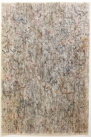 León Ferrari, Untitled, 1990. Graphite, pastel, and ink on high impact polystyrene, 25 11/16 x 17 5/8 in. / 65.2 x 44.7 cm.