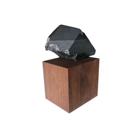 Gustavo Bonevardi, Untitled, 2014. African pyrophyllite and wood, 8 1/2 in. x 6 1/4 in. x 4 1/2 in.