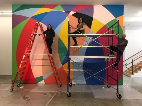 Graciela Hasper, Untitled, mural at Sicardi   Ayers   Bacino in progress, 2019.