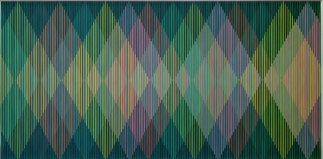Carlos Cruz-Diez, Physichromie Panam 157, 2014. Chromography on aluminum, 39 5/16 x 78 11/16 in.